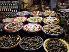Assorted shellfish at Da Lat street market