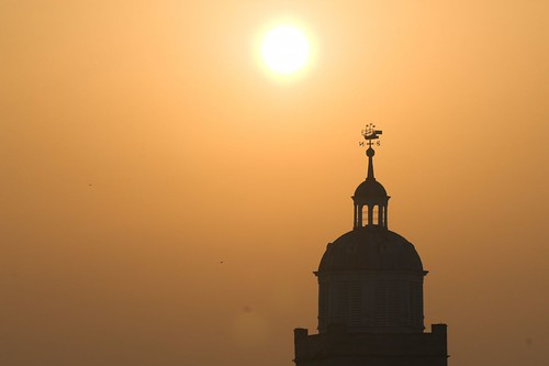 Misty sunrise over Portsmouth Cathedral