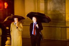 Warriors (Thomas Hawk) Tags: sanfrancisco california city two usa men rain umbrella holding downtown unitedstates unitedstatesofamerica umbrellas raind