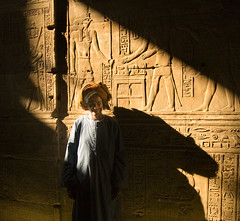 Edfu temple (Michaeljohn) Tags: light temple egypt horus hieroglyphs edfu abigfave