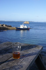 St Agnes (tickerandb) Tags: beer st table boat picnic agnes pint