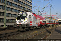BB 1116 246 'Bundesheer' (ES 64 U2) in Hannover #0283 (146 106) Tags: train canon ic siemens hannover locomotive taurus bahn pro1 lokomotive lok bb bundesheer werbelok es64u2 1116246