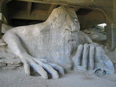 Fremont Troll (Ryan Hadley) Tags: seattle sculpture usa art washington fremont fourthofjuly troll independenceday fremonttroll
