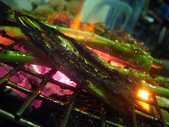 Okra on Grill