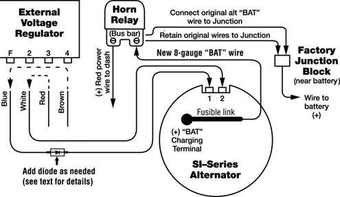 External regulator wiring diagram somurich external regulator wiring diagram converting external regulatoralt a alt with internal asfbconference2016 Images