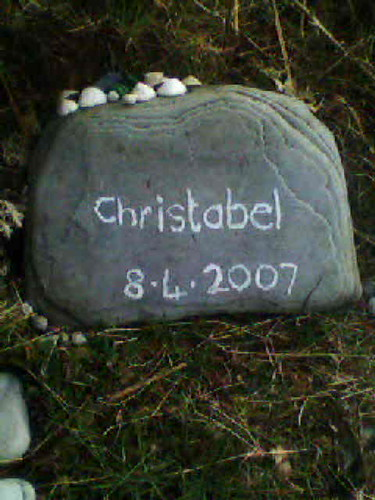 Christabel's memorial stone