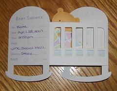 shower invite folded