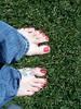 8/365  Feet meet grass... Grass meet feet!!