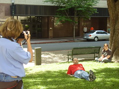 Caddo Middle Magnet Student Connor Maloney Spent the Day Shadowing Times Photographer's and Shooting Pictures