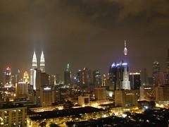 51.從房間陽台看出去的吉隆坡夜景