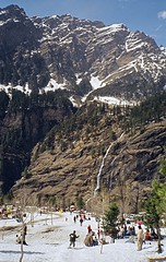 Waterfall (NA.dir) Tags: travel vacation photography iso100 riva minolta manali rohtangpass himachalpradesh kodakmax100 golaba r55st