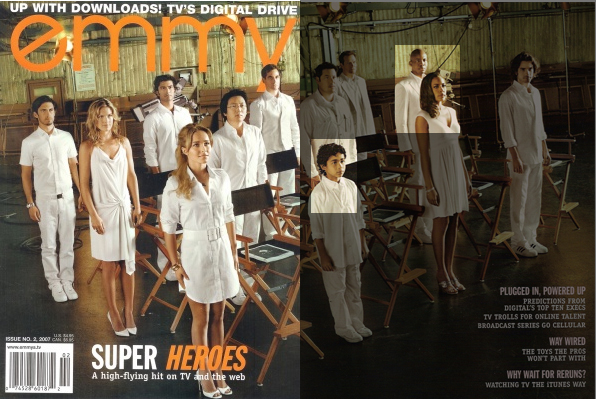 Emmy Magazine March/April 2007 Heroes Cover