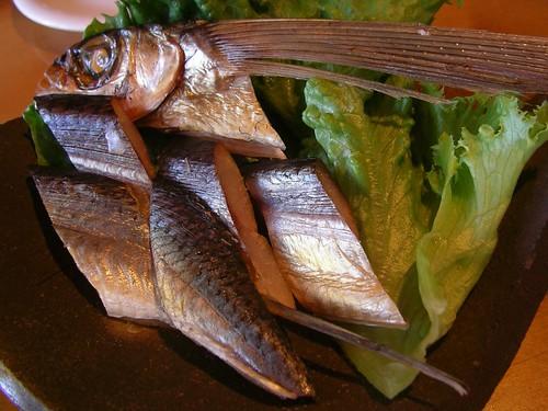 飛魚のスモーク(散歩亭, 安房・屋久島) Dinner @ Sanpotei
