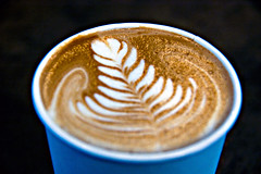 Best Cup of Coffee EVER! (cindilou) Tags: food art coffee oregon portland design leaf pretty or best creamy nikonstunninggallery