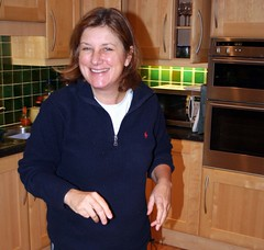 In the kitchen (copperbottom1uk) Tags: kitchen smile blueshirt