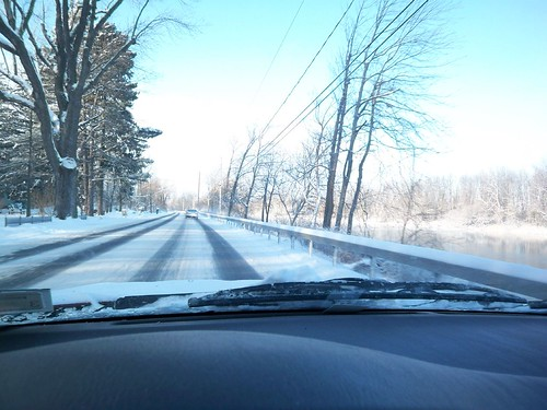 Winter's Drive: Along side the Genesee River on E. River Road