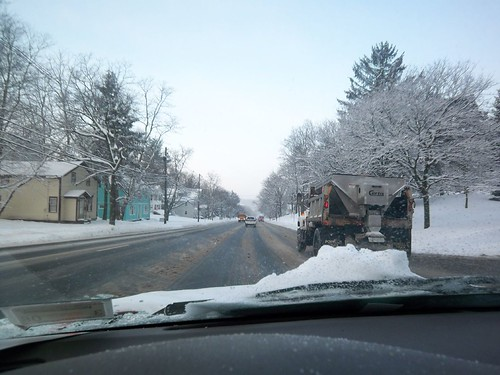 Winters Day 3: Driving to Work - Penfield - Approaching Panorama