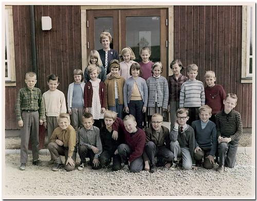 Klassfoto, Brunnsgårdsskolan, Vetlanda