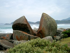 Split Rock (Shara Lambeth) Tags: summer hot beach sand waves australia victoria prom humid wilsonspromontory