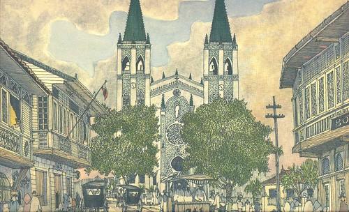 San Sebastian Church Drawing San Sebastian Church And