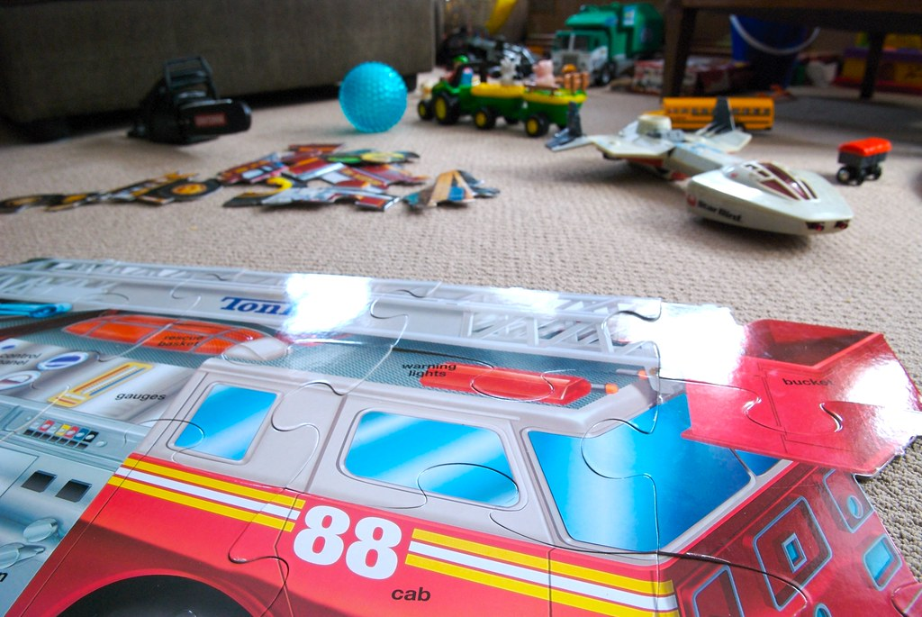 jigsaw puzzles, chainsaws and twenty-five year old toys