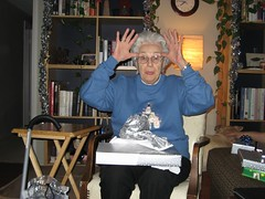 Grandma Jean's imitation of a reindeer. (12/24/06)