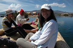 Floating island Lake Titicaca (Mark Woollard) Tags: lake titicaca island floating