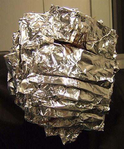 Silver foil armadillo