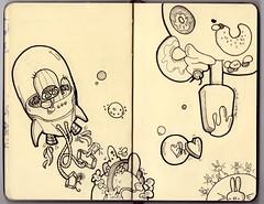 ( @_@ ) (bea_barrena) Tags: moleskine drawings sketchbook doodle dibujos libreta garabato llibreta bocetos dibuixos