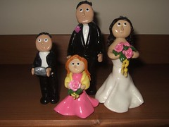 Wedding Cake Toppers in Fimo
