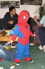Spiderman visits for Christmas