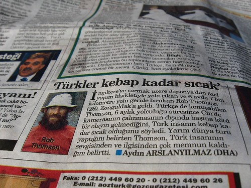 I got in the Zonguldak Paper (Zonguldak, Black Sea coast of Turkey)