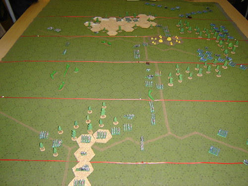 Aerial view of battlefield