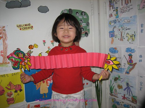 Chinese New Year dragon puppet craft