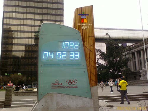 Vancouver 2010 countdown clock 1