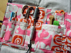 sewing travel case - filled