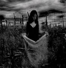 Distorted face (horriblecherry) Tags: mist girl strange graveyard dark dead ghost hill stormy graves sheet ghostly blackness artlibre superaplus aplusphoto featuredimagedaskabinett