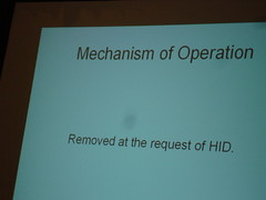 Paget's slide referencing HID request