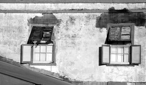 Old School Meals Building Windows