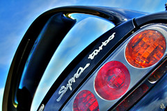 Supra (i ea sars) Tags: sky black cars car lights tail twin turbo coche toyota carro 1997 hdr taillights supra tailights  aplusphoto superbmasterpiece