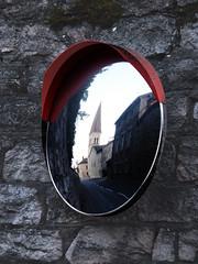 mirror (malona) Tags: france reflection stone wall mirror frankreich wand spiegel 2006 spiegelung min abigfave malona
