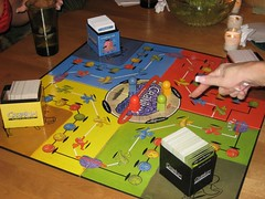All teams were in the center at once, which is unheard of in Cranium. (02/17/07)