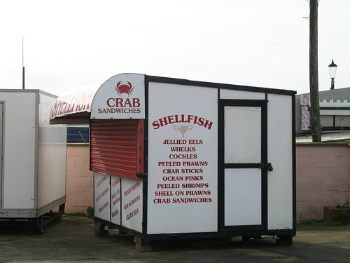 There is something rather unnerving about a closed whelk stall.