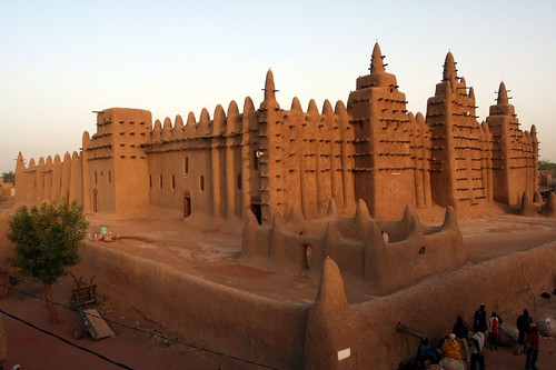 Djenne Mosque at sunrise