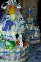 Diaper Cakes (soldierant) Tags: family pregnancy babyshower diapercakes