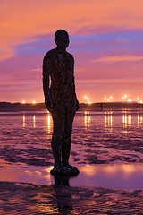 Another Place (. Andrew Dunn .) Tags: uk longexposure england sculpture seascape art beach silhouette clouds liverpool reflections twilight iron loneliness britain ironman figure castiron bleak installationart interestingness9 gormley stoicism antonygormley anotherplace ironmen crosbybeach gapc i500 challengeyouwinner
