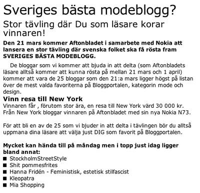 Modeblogg