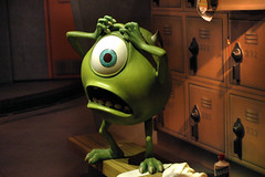 Mike Wazowski (StartedByAMouse) Tags: mike disneyland disney dca monstersinc sulley disneyscaliforniaadventure darkride totherescue interestingness252 i500 sbam disneyphotochallenge disneyphotochallengewinner