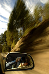 Zoom Zoom (Nick  Carlson) Tags: pictures trees selfportrait blur car photography mirror photo zoom photos pics carlson nick picture pic yosemitenationalpark sideview nikond200 nickcarlson truelifeimages nickcarlsonphotography