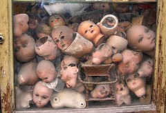Rome doll hospital (six28fifty) Tags: italy rome dolls faces creepy dollheads nikoncoolpix